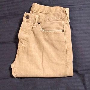 A&F Tan Skinny Fit Jeans 32x34